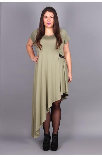 Asymetryczna sukienka khaki