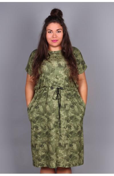 Sukienka ze ściągaczem- moro