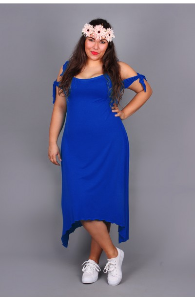 Sukienka z wiązaniami - niebieska