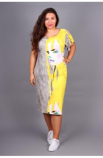 Sukienka ołówkowa z nadrukiem