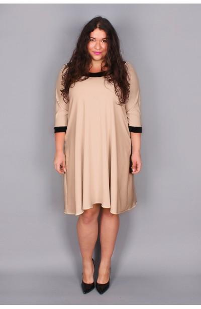 Trapezowa sukienka - cappucino