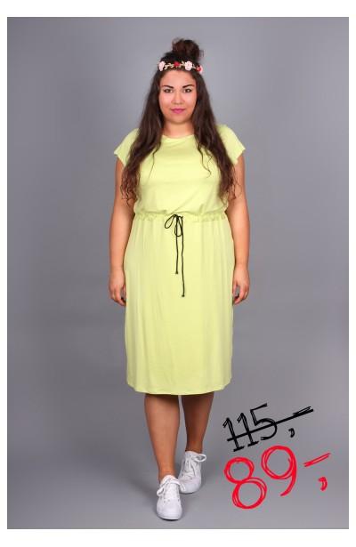 Sukienka ze ściągaczem- limonka