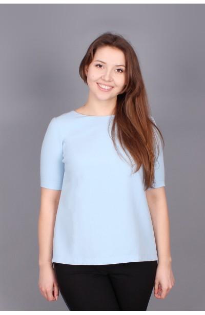 Błękitna elegancka bluzka