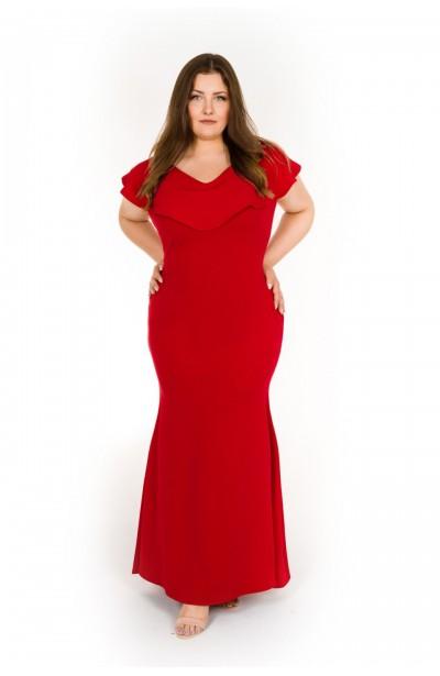 CLAIR RED długa suknia...