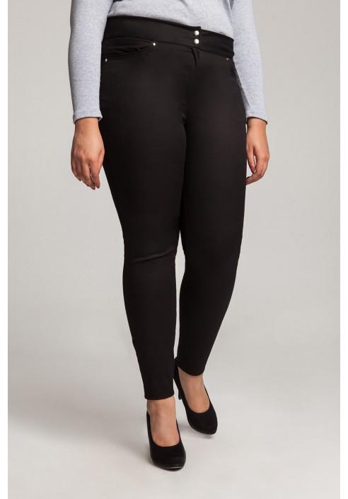 SYDNEY BLACK klasyczne spodnie plus size