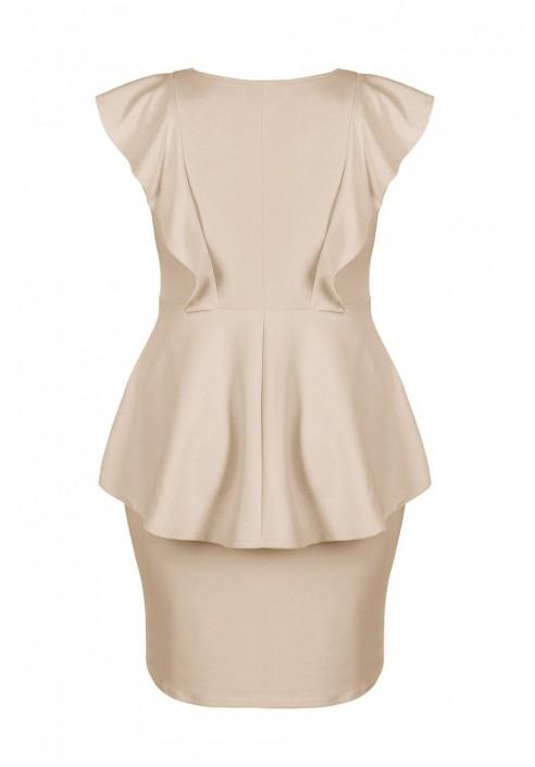 BIRDY BEIGE elegancka sukienka plus size na lato
