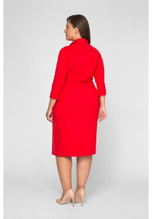 BRUNA RED minimalistyczna szmizjerka plus size