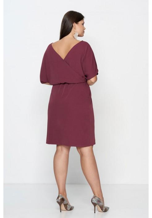 CHIARA MARSALA elegancka sukienka plus size
