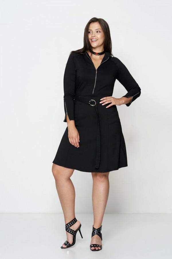 DEBRA BLACK minimalistycza sukienka plus size