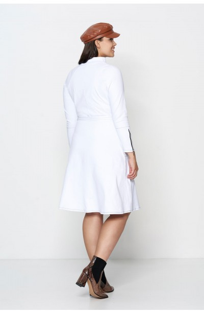 DEBRA WHITE minimalistyczna sukienka plus size