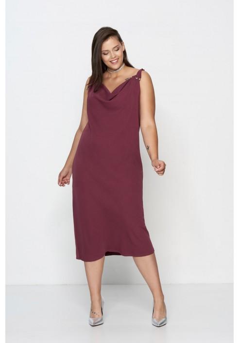 ALEGRA MARSALA prosa sukienka plus size