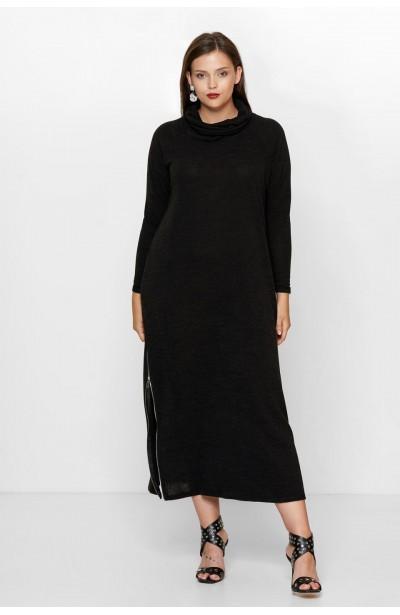 SIMONE BLACK długi sweter...