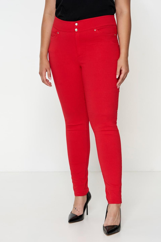 SYDNEY RED modne spodnie plus size typu rurki