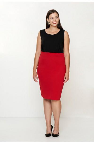LENNA RED ołówkowa spódnica...