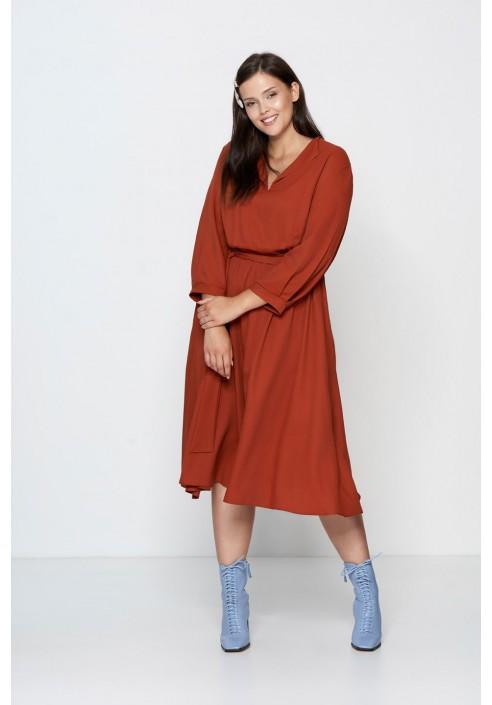 PETRA BRICKY rozkloszowana sukienka plus size
