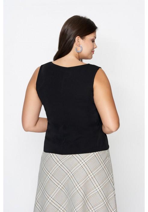 LARS BLACK minimalistyczny top plus size