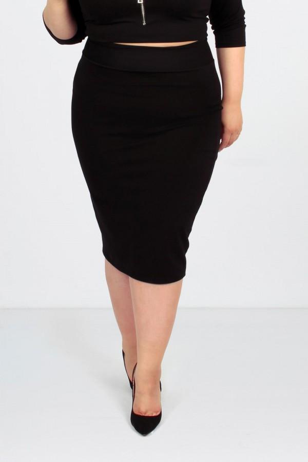 LUCE BLACK ołówkowa spódnica plus size