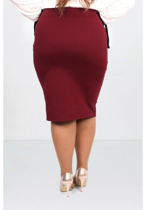 LUCE WINE ołówkowa spódnica plus size