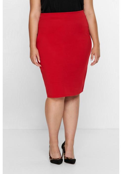 LUCE RED ołówkowa spódnica plus size