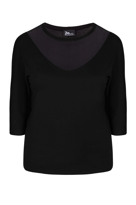 VENUS BLACK seksowna bluzka plus size z siateczką