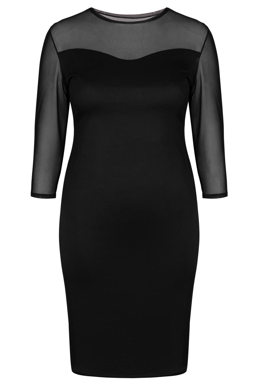 BRITTANY BLACK elegancka sukienka plus size