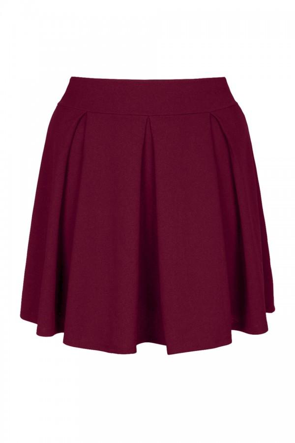 SYLWIA WINE rozkloszowana spódnica plus size