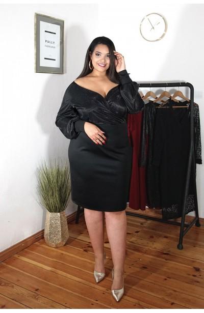 IMANI GLOW błyszcząca sukienka plus size