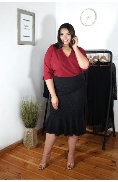 DARLING BLACK koronkowa spódnica plus size