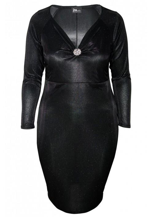 HARLOW BLACK elegancka sukienka plus size