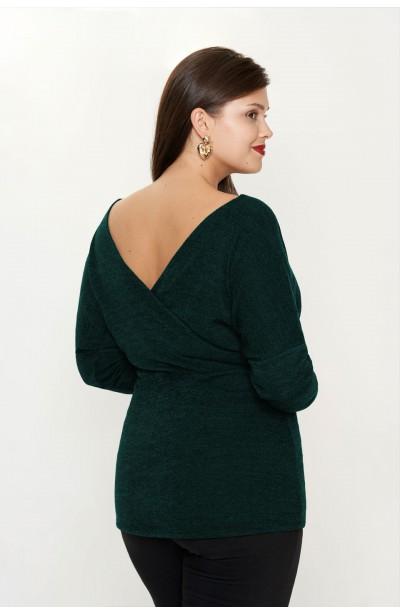 ROSELIA GREEN wygodny sweter plus size