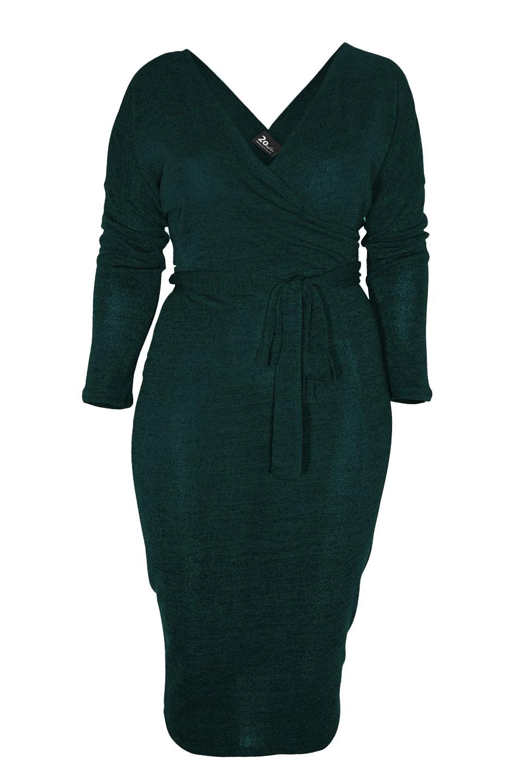 ISLA GREEN swetrowa sukienka plus size