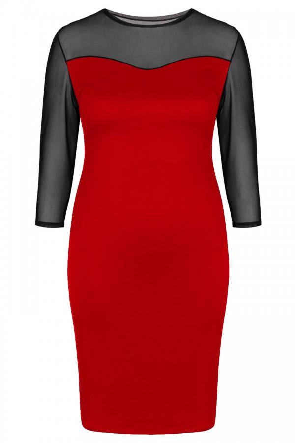 BRITTANY RED seksowna sukienka plus size