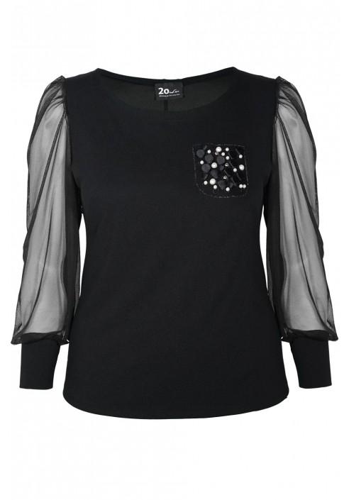 EIRA BLACK elegancka bluzka plus size