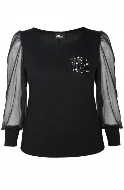 EIRA BLACK elegancka bluzka...
