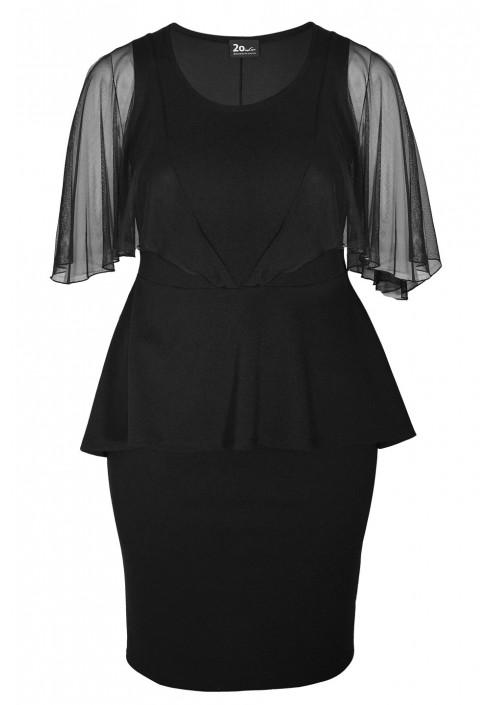 GINGER BLACK elegancka sukienka plus size