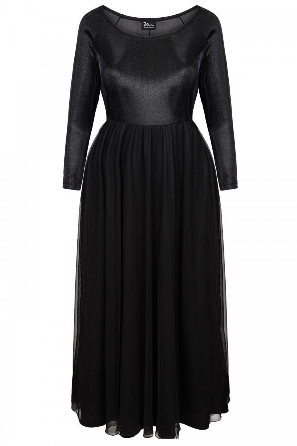 VICTORIA BLACK elegancka sukienka maxi