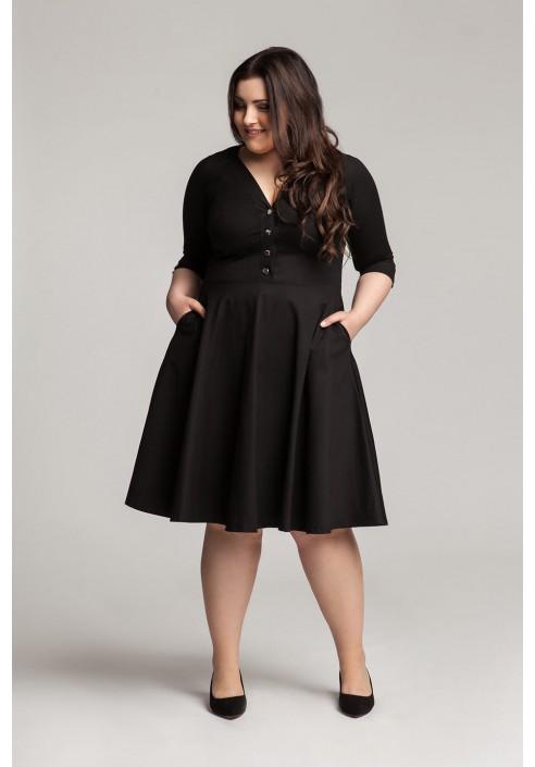 LOTTE BLACK sukienka plus size w stylu pin up