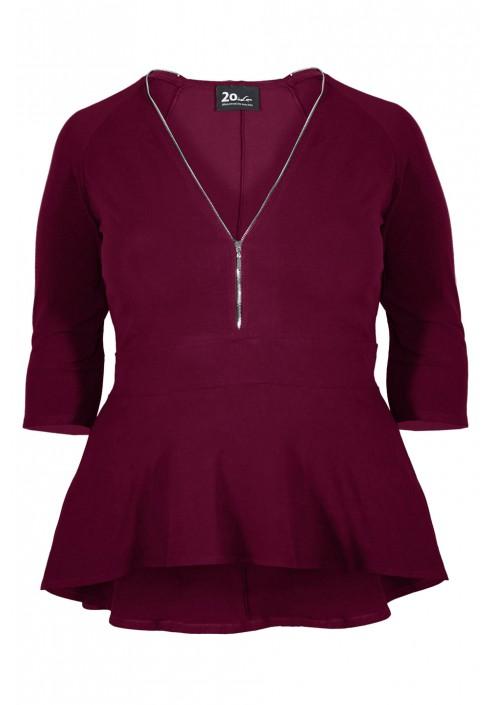 KAYA WINE bluzka plus size z baskinką