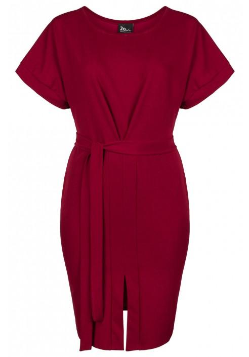 CARLA WINE minimalistyczna sukienka plus size
