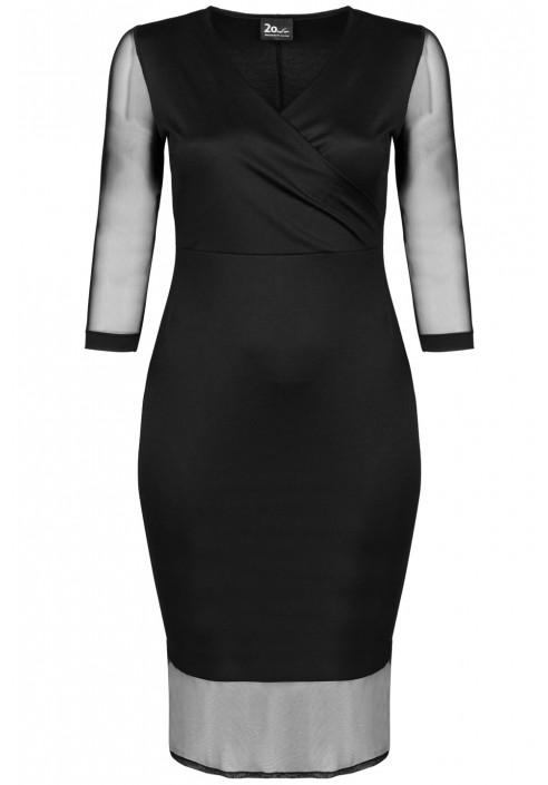 NAOMI BLACK wizytowa sukienka plus size
