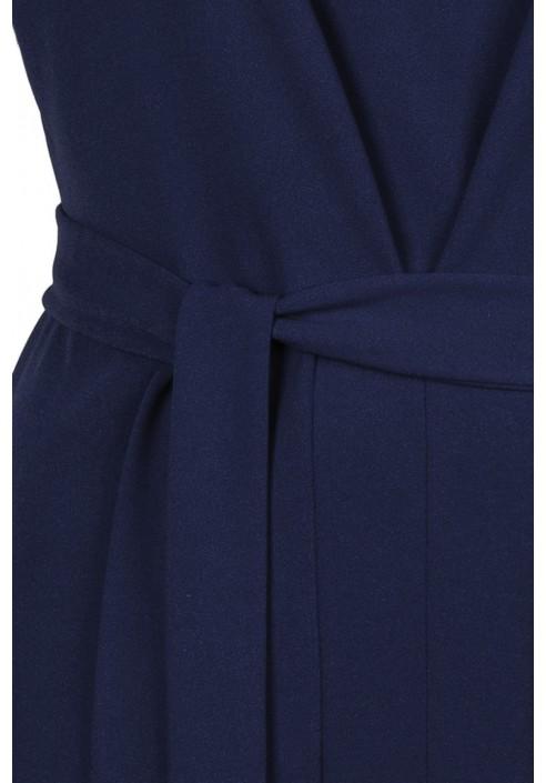 CARLA NAVY minimalistyczna sukienka plus size