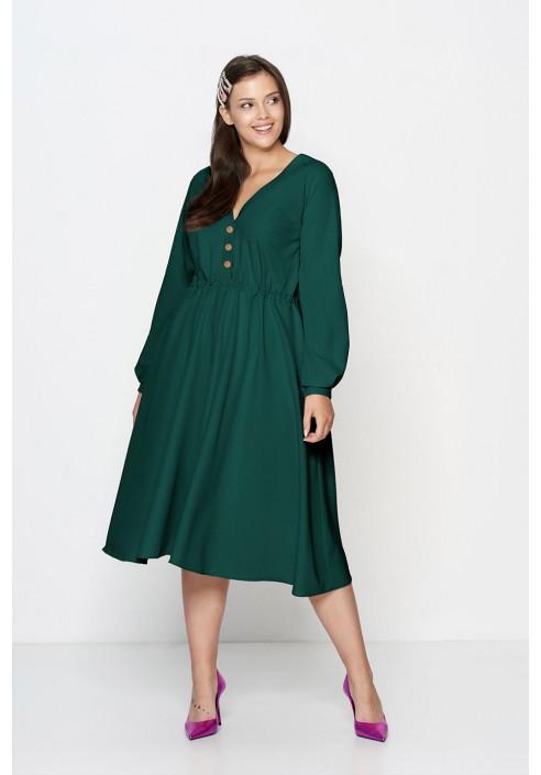 MELLISA GREEN rozkloszowana sukienka plus size