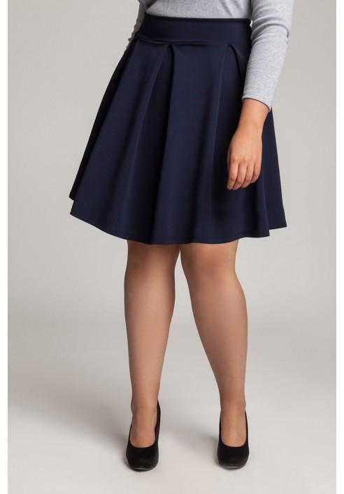 SYLWIA NAVY rozkloszowana spódnica plus size