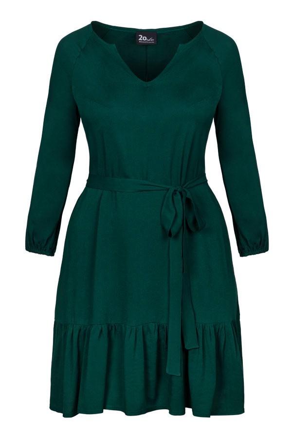 FLORA GREEN trapezowa sukienka plus size