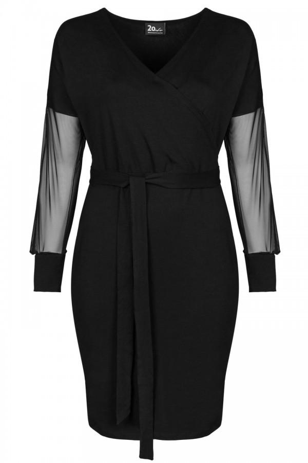 HANA BLACK wygodna sukienka plus size