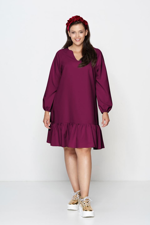 FLORA VIOLET trapezowa sukienka plus size