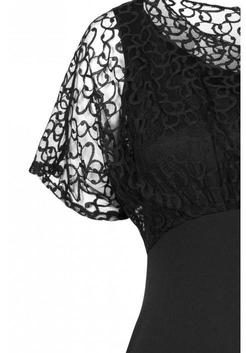 LAVINIA BLACK elegancka sukienka plus size