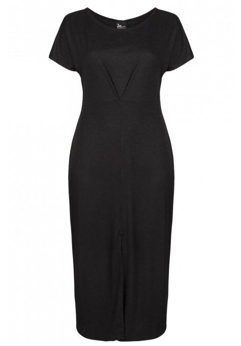 REMY BLACK prosta maxi sukienka plus size