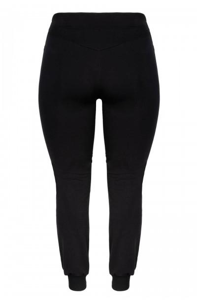 BROOKLYN BLACK wygodne dresowe spodnie plus size