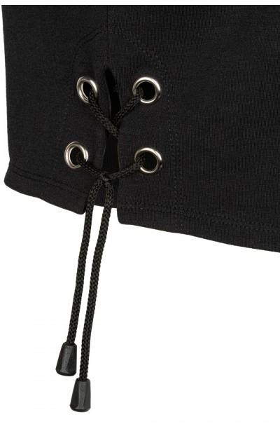 VENICE BLACK wygodny top plus size z wiązaniem